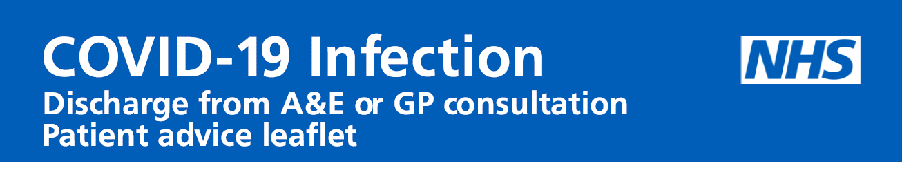 Discharge from A&E or GP consultation – patient advice leaflet